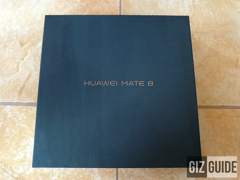 The black stylish box of Mate 8