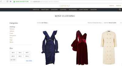 fashion rental website