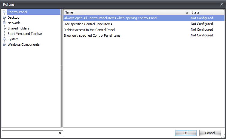 Group Policy ADM and ADMX files in AppSense DesktopNow