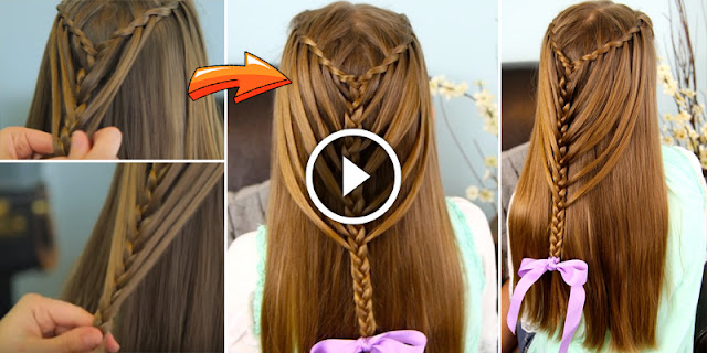 How To Make Waterfall Twists Into Mermaid Braid Hairstyle