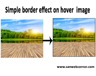 simple border effect on hover image