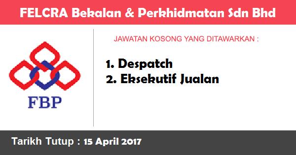 Jawatan Kosong di FELCRA Bekalan & Perkhidmatan Sdn Bhd