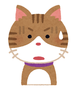 猫のイラスト「ひらめいた顔・驚いた顔・焦った顔・悩んだ顔」