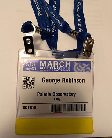 Ok, with this badge I can sit in on the APS March Meeting (Source: Palmia Observatory)