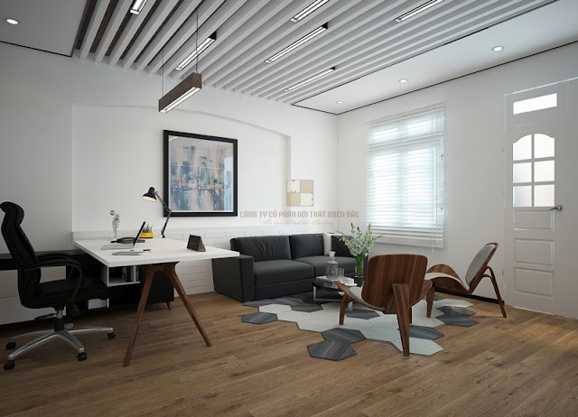 Kiểu bàn làm việc văn phòng sáng tạo, độc đáo như thế này cũng là một sự lựa chọn hay cho nội thất phòng giám đốc