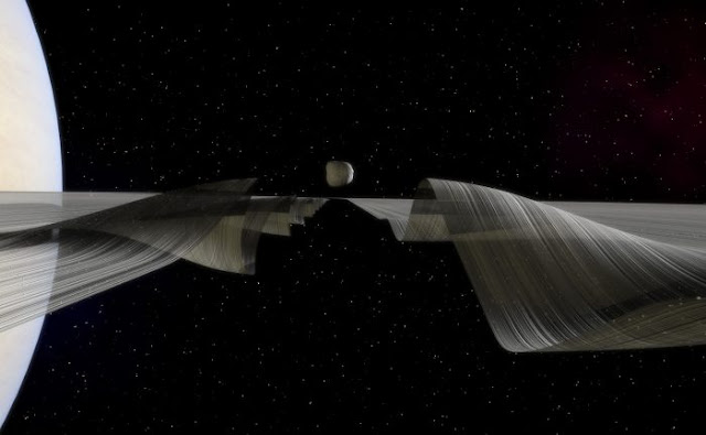 New visualization of waves in Saturn's rings