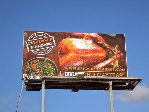 Erewhon Market turkey billboard
