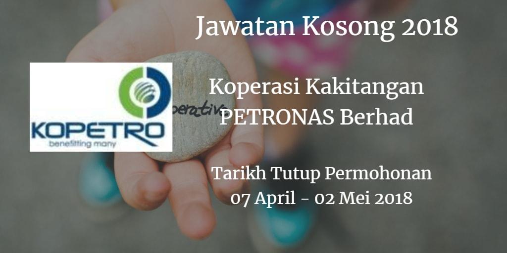 Jawatan Kosong KOPETRO 07 April - 02 Mei 2018
