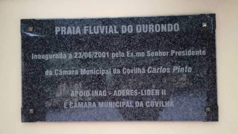 Placa Praia Fluvial do Ourondo
