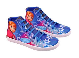Gambar Sepatu Casual Anak Perempuan Motif Frozen