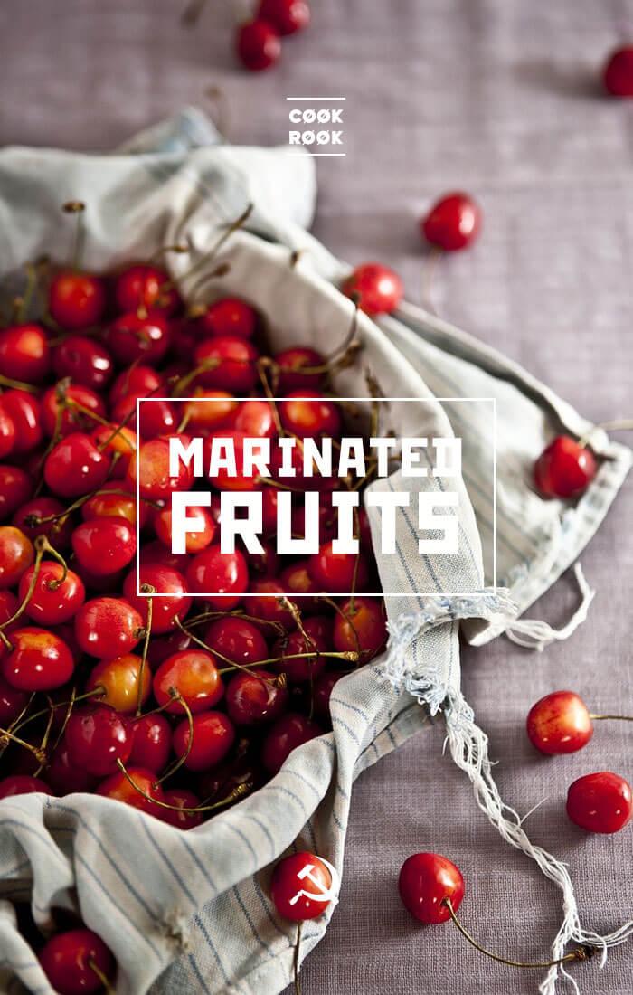 Marinated cherries