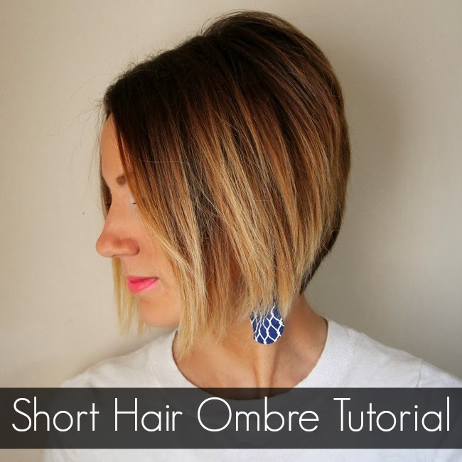 short hair ombre tutorial how to do ombre at home one little momma. Black Bedroom Furniture Sets. Home Design Ideas