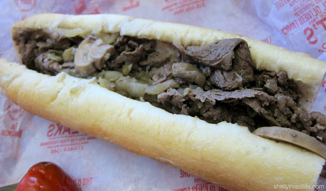 Pat's cheesesteak is the best of Pat's and Geno's