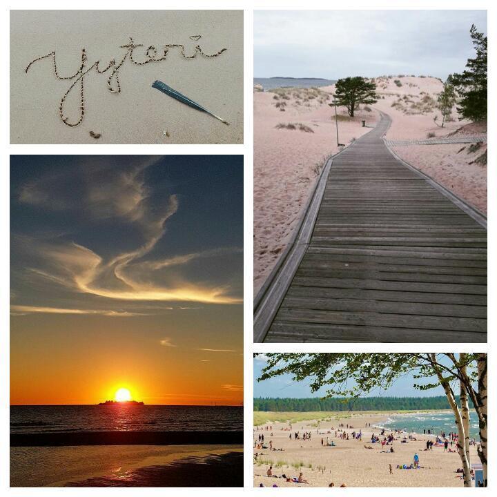 Finlandiya'nın Yyteri şehrindeki sahil ve deniz