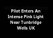 Pilot Enters An Intense Pink Light Near Tunbridge Wells UK