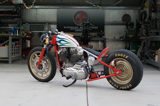 alpaca sportster ironhead turbo by dp customs side left