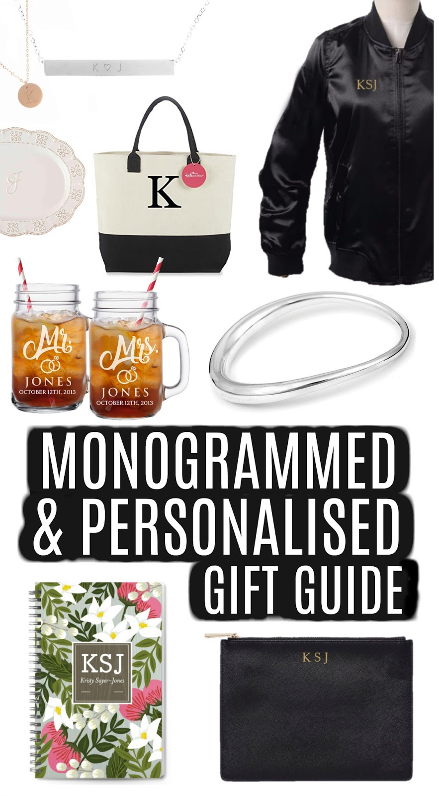The Ultimate Monogrammed and Personalised Women's Gift Guide - Monogrammed Gift Ideas, Personalized Gifts, Birthday Gift Ideas, Christmas Gift Inspiration, Wedding Gift Ideas