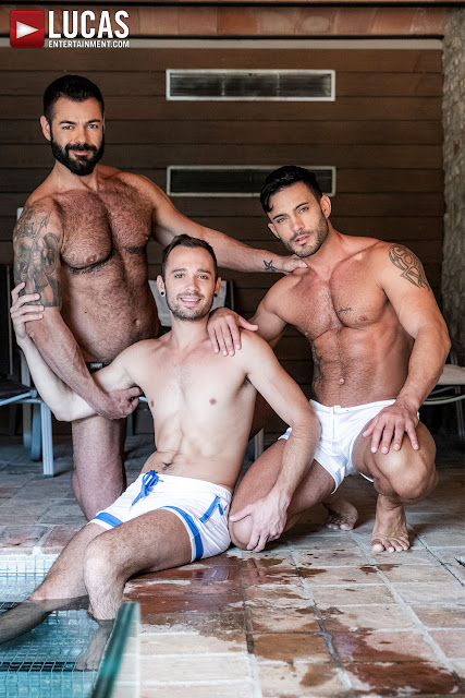LucasEntertainment - VICTOR D'ANGELO, DRAKE ROGERS, ANDY STAR | POOLSIDE BREEDING
