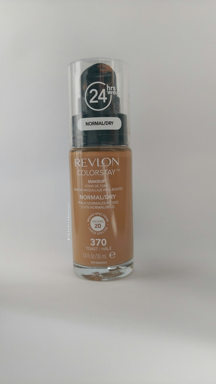 Revlon Colorstay Foundation for Normal/Dry Skin in Toast Review and Swatches
