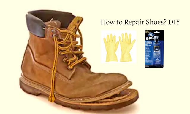 DIY repair shoes with broken sole at home