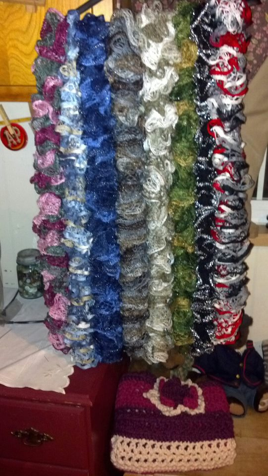 Comparing Sashay Style yarns for Scarves