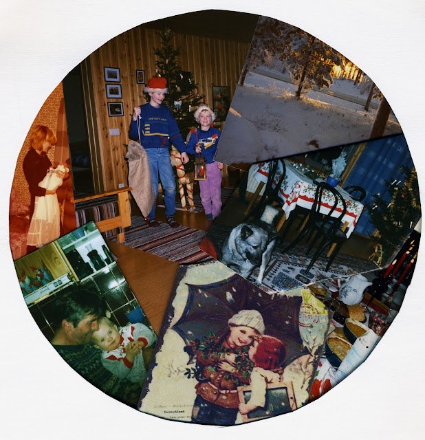 muistot, Likka, äiti ja Ilpo, Irja, tontut, pojat, Juha ja Kati, memory, joulupöytä, joulukuu