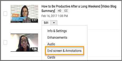 Menambahkan End-screen di Youtube