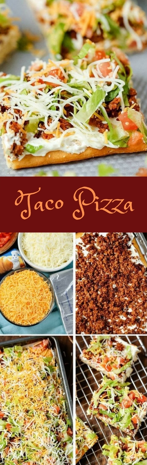 Taco Pizza #pizza #dinner