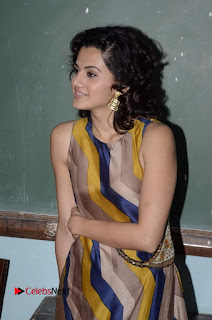 Actress Tapsee Panu Stills at Remonetise India Campaign in Chetna College Bandra West  0019.jpg