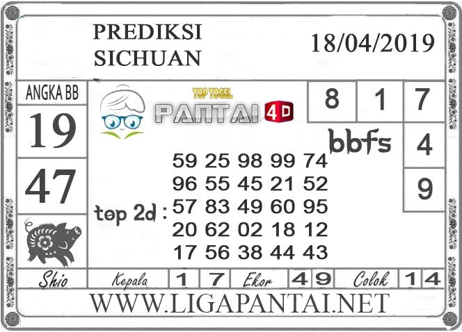 """Prediksi Togel """"SICHUAN"""" PANTAI4D 18 APRIL 2019"""