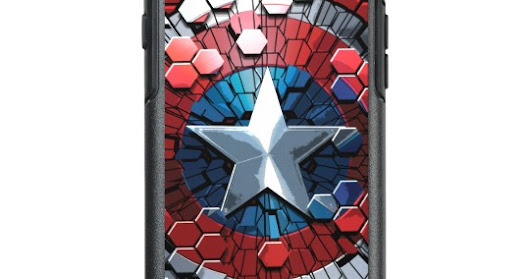 Captain America Hexagonal Ink Splatter Shield OtterBox iPhone 6/6s Case