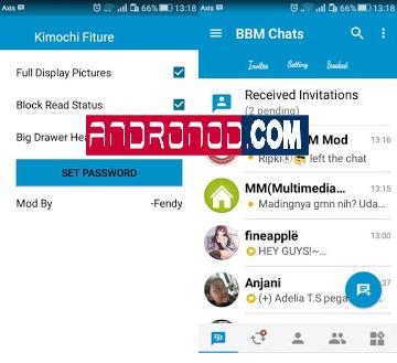 BBM Mod Kimochi Simple Blue 3.0.1.25 Apk
