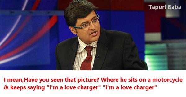 Arnab goswami funny quotes On gurmeet ram rahim singh