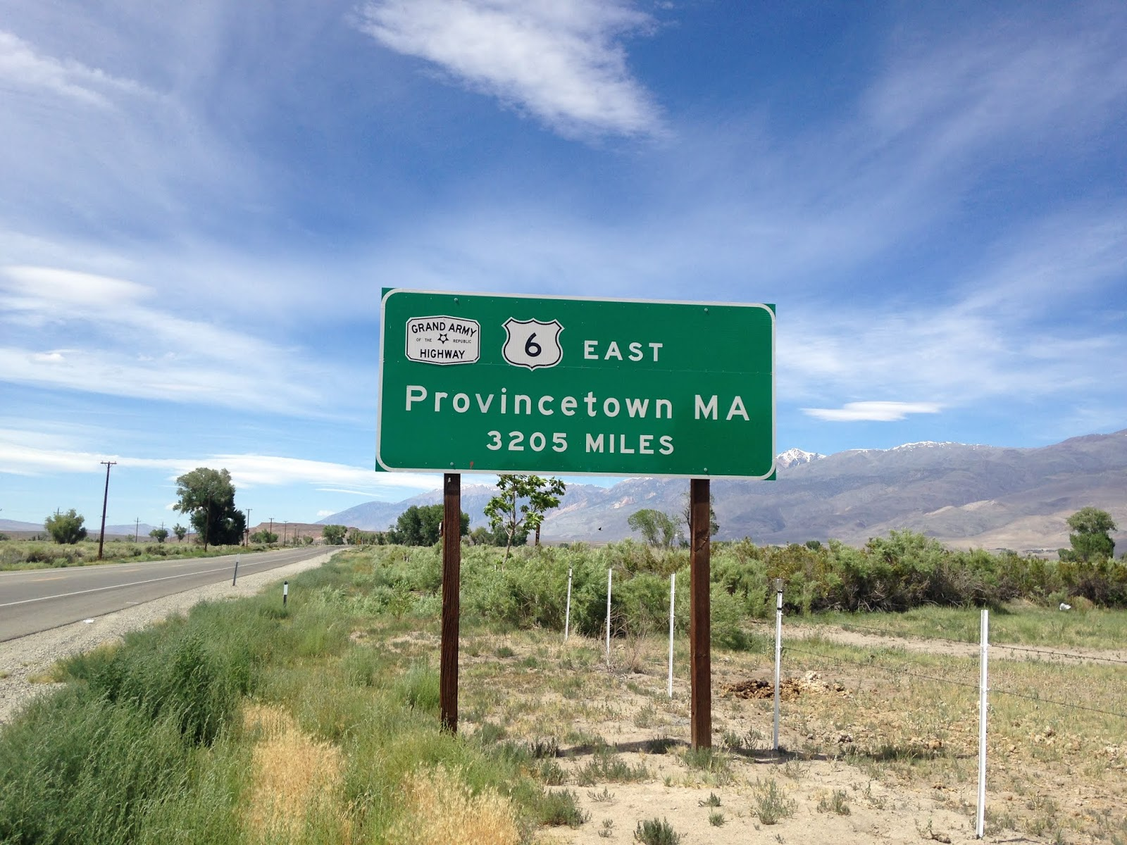 back in june of 2016 i visited the western terminus of us route 6 at us route 395 located in bishop california of inyo county on my way to laws depot