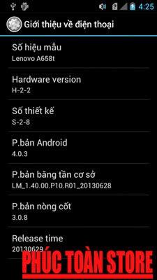 Tiếng Việt Lenovo A658t ok alt