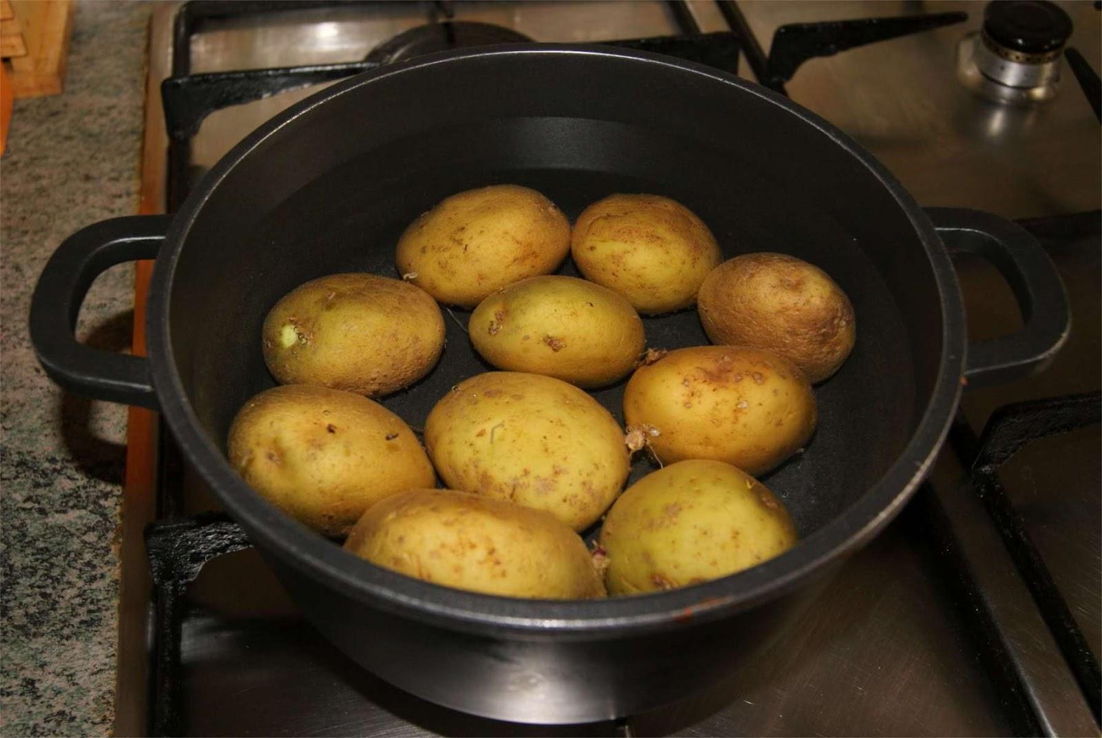 Receta de ensalada de patatas al guacamole paso 1