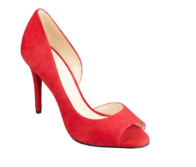 Nine West Red peeptoe heeled d'orsay pumps