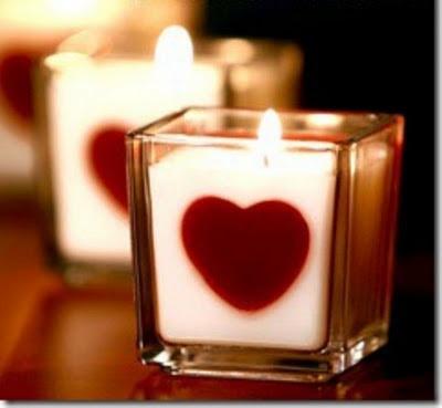 Velas en San Valentín