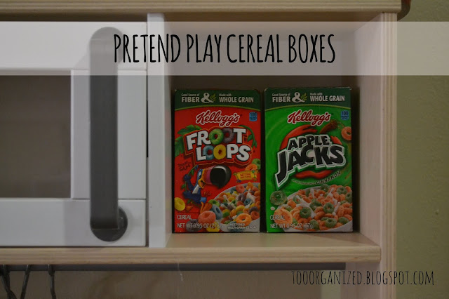Kitchen Diorama Made Of Cereal Box: DIY CEREAL BOXES FOR PRETEND PLAY