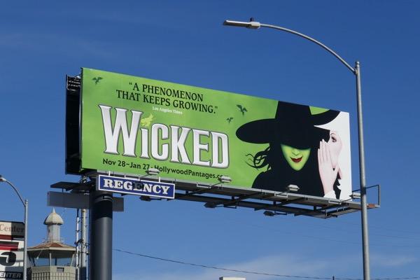 Wicked musical LA billboard