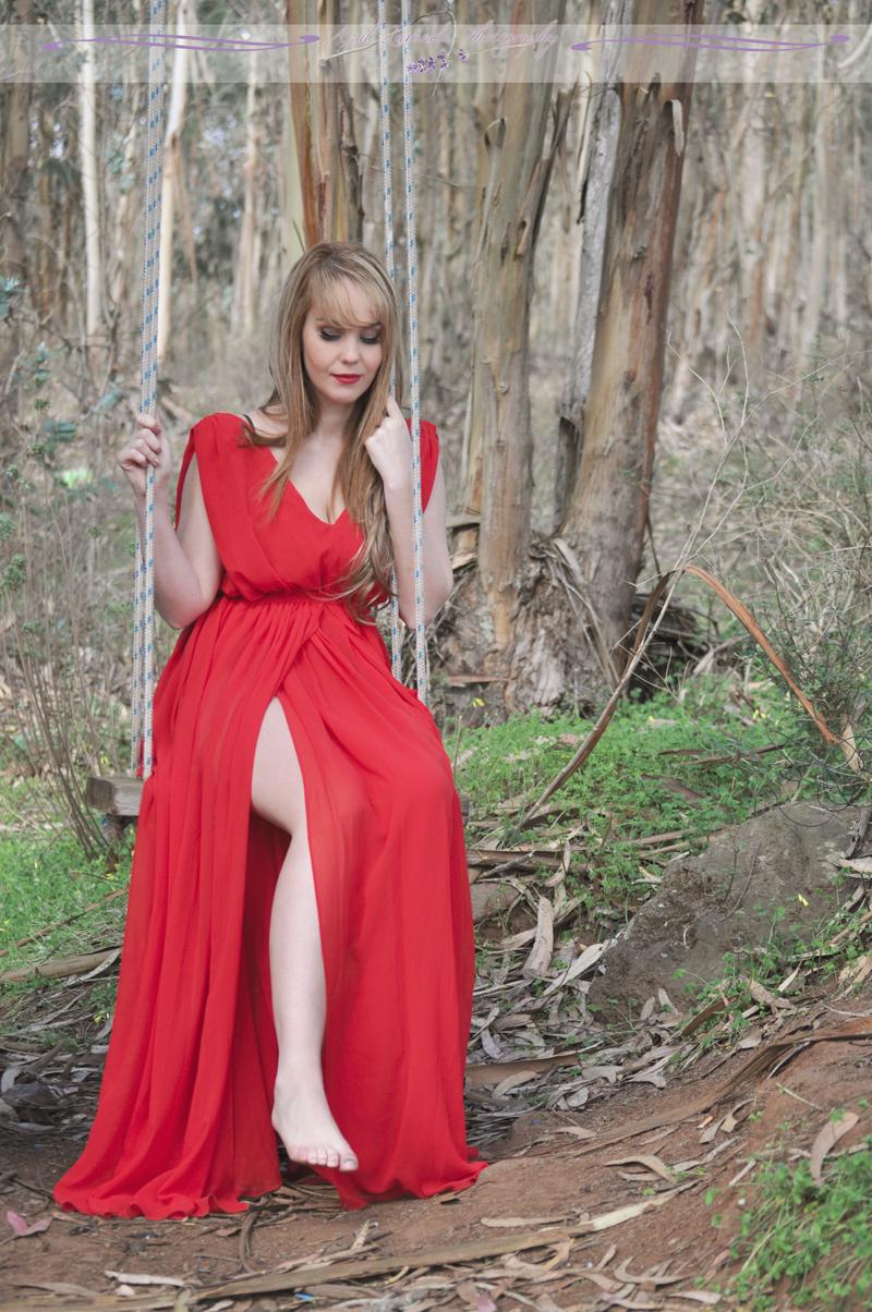 nery hdez, veva almenara, azul lavanda photography, red dress