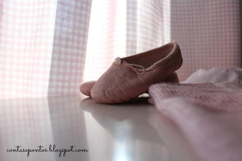 Perneiras rosa - a minha pequena bailarina