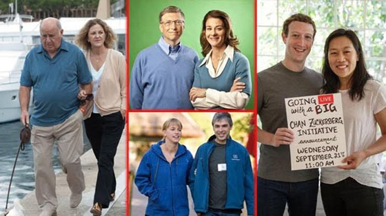 10 Wanita Ini Berpenampilan Biasa-Biasa Saja, Padahal Suaminya Orang Terkaya di Dunia