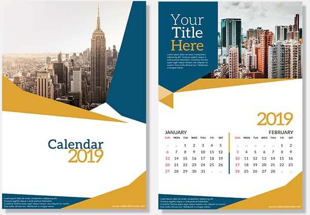 PSD Design Calendar 2019