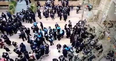 """صدق او لا تصدق رقص طالبات فى مدرسة فى ارض الطابور على اغنيه لحمو بيكا """"فيديو"""""""