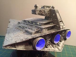 Star Wars, Empire Strikes Back. reveal, scale model, Fiber optics