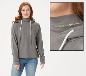 19th Peace Love World Fashion Turtleneck Hoodie With Dip Dye Cords 49 95 Available In  Colors