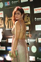 Telugu Actress Aarthi in Deep Neck Backless Golden Gown at IIFA Utsavam Awards 2017 Exclusive 10.JPG