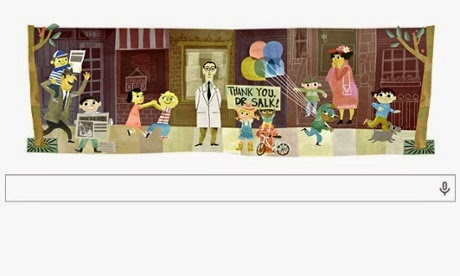 Google doodle: Jonas Salk 100th Birthday