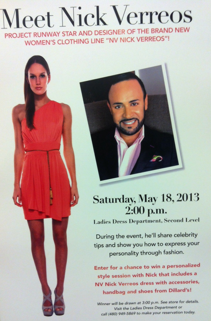 f98172d860f NICK APPEARANCES.....In-Store Appearance Dillard s Fashion Square  Scottsdale ARIZONA Saturday May 18th!